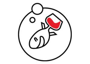 Logo - Comme un poisson dans le vin